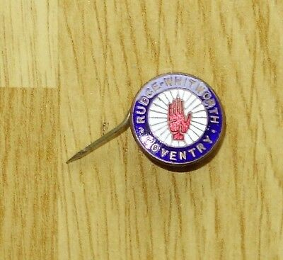 1930s RUDGE-WHITWORTH (British) enamel motorcycle bike badge lapel - TYPE1