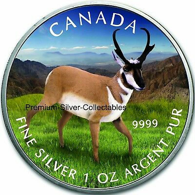 2013 Canada Wildlife Series Antelope - 1 Ounce Pure Silver Coin 5 of 6!!!