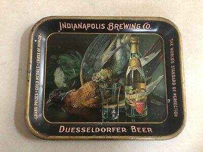 Pre Prohibition Indianapolis Brewing Co Duesseldorfer Beer Tray Advertising Sign