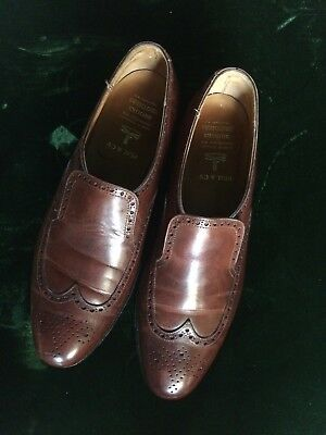 018e315f83279 Brooks Brothers English Leather Brown Wingtip Shoes Men s 44 D Made In  England