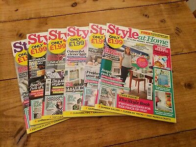 6 issues Style At Home Magazine January to June 2018