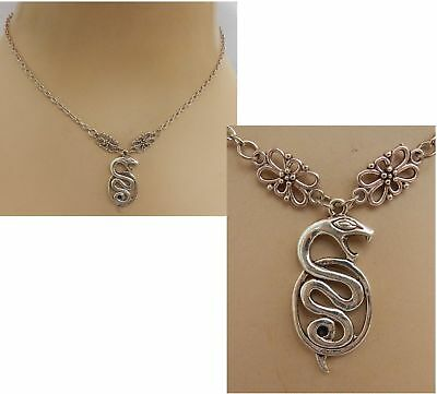 Snake Necklace Silver Pendant Jewelry Handmade NEW Accessories Adjustable Chain