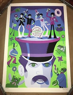 Josh Agle SHAG The Beatles 'May I Introduce You To' Poster Art Print Signed S/N