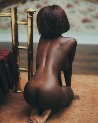 8x10 Photo Fine Art Beautiful Rear Butt Black Ebony Model Artistic Nude 102818c6