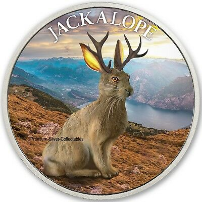 2019 Cryptozoology Series Jackalope! - Pure Silver Colorized Series!!