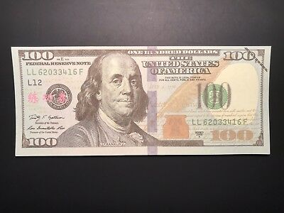 Chinese Bank Training US $100 Franklin Note