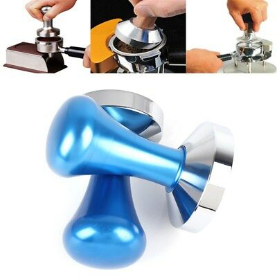 51/57mm Blue Coffee Tamper Barista Espresso Tampers Stainless Steel Press Base