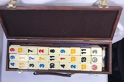 Vintage Pressman Tournament Rummikub Game with Case Sabra Way Rummy Tiles