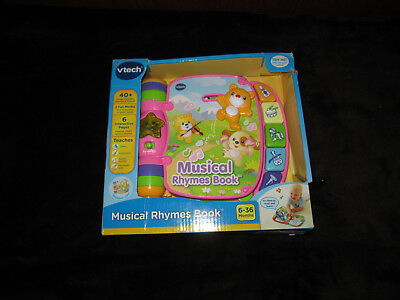 Vtech Musical Rhymes Book Pink New 1699 Picclick