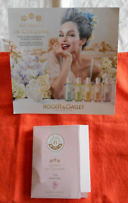 ROGER & GALLET echantillon sample, extrait Cologne Femme, THE FANTAISIE 1,2ml
