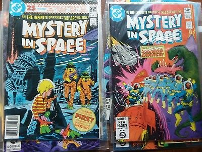 6 mystery in space comics 111-115,117 nm