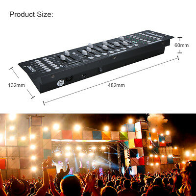 Mini 192 Channels DMX512 16CH Controller Console Stage Lighting Operator Y8C5