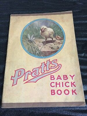 Antique PRATTS Baby Chick Poultry Pamphlet Book Advertising
