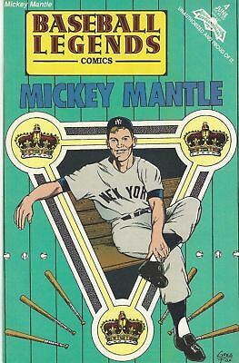 June 1992 Baseball Legends  ***MICKEY MANTLE Comic -  by Revolutionary Comics