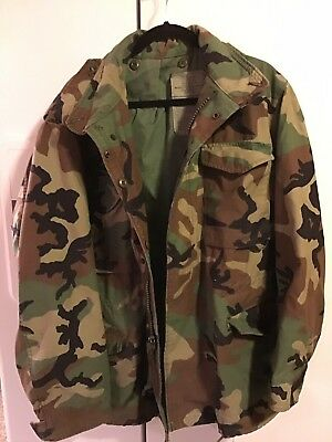 Genuine Us Army Military Issue M65 Field Jacket Woodland Cold Weather - Usa Made