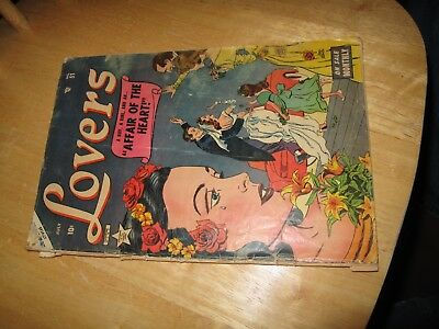 Lovers,  #51, July 1950's, Comic Book, Lovers Comics, Fair Condition