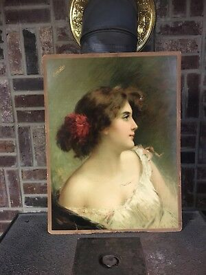 Antique Poth's Beer Advertisement Lithograph By A. Asti