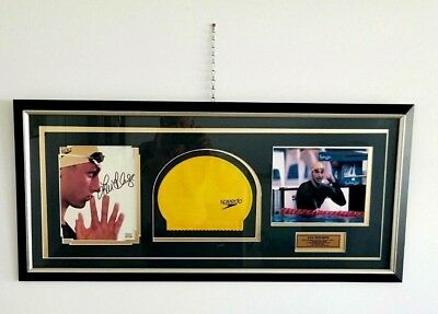 Larged Framed Authentic Ian Thorpe  Hand Signed Photo , Picture And Cap