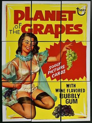 Lost Wacky Packages VARIATIONS MASTER 1-4 Puzzle Set PLANET OF THE GRAPES