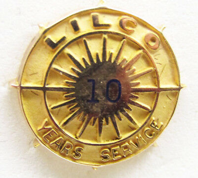 10K Pin - Long Island Lighting Company - 10 Year Service Pin