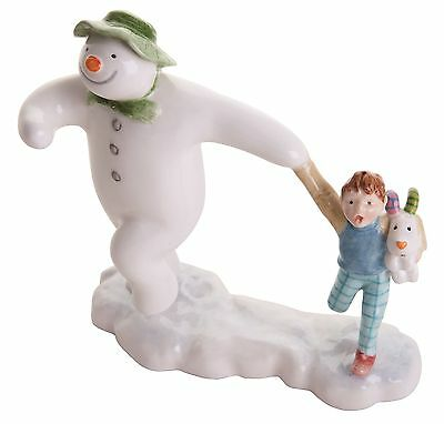 The Snowman Beswick Schneemann Billy Schneehund Taking Off Figur 12cm Jbs15