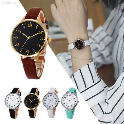 Fashion Round Dial Watch Ultra Thin Leather Belt Women's Quartz Wrist Watch