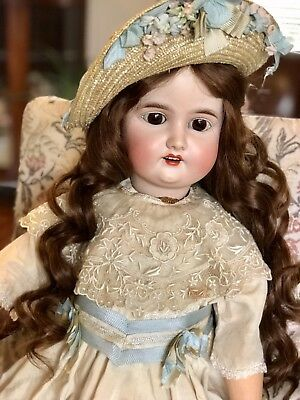 "Antique  Bisque  Gebruder Kuhnlenz Doll ( 28""tall)"