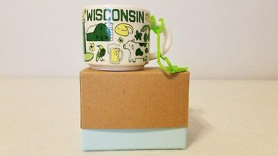 Starbucks Wisconsin 2 Oz Been There Series Collection Ornament Mini Mug >>New<<