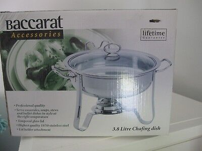 Baccarat 3.8 litre stainless steel chafing dish/food warmer