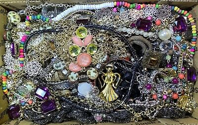Huge Vintage - Now Jewelry Lot Estate Find Junk Drawer UNSEARCHED UNTESTED #118