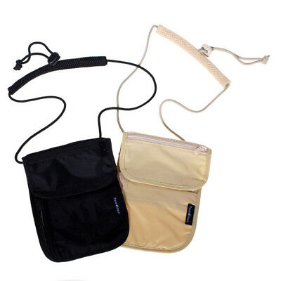Useful Secure Passport Neck Pouch Money Cord Clothes Wallet Organizer Holder Bag
