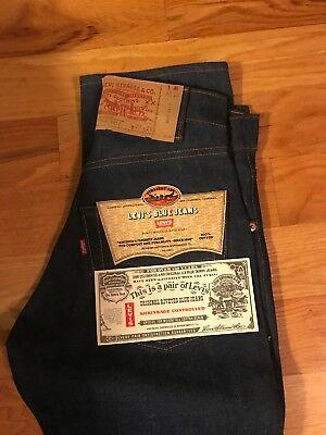 vintage levis 505 0217, 27-29, Made in USA, Brand New With Tags, 1980s