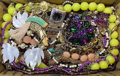 Huge Vintage - Now Jewelry Lot Estate Find Junk Drawer UNSEARCHED UNTESTED #121