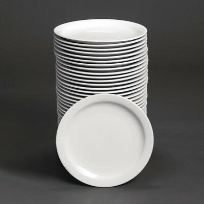 Athena Hotelware Narrow Rimmed Plates 10 - Pack of 36 | Porcelain Dinnerware