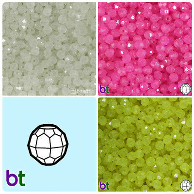 BeadTin Glow 6mm Faceted Round Craft Beads (750pcs) - Color choice