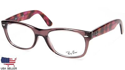 5dc1f5de56 NEW Ray Ban RB5184 5628 OPAL BROWN EYEGLASSES GLASSES FRAME 5184 52-18-145