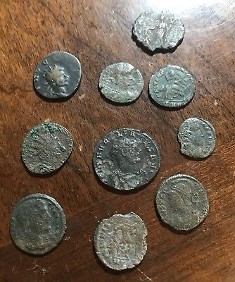 Group Lot of 10 Authentic Ancient ROMAN Coins Collection 200-400 AD Lot 3