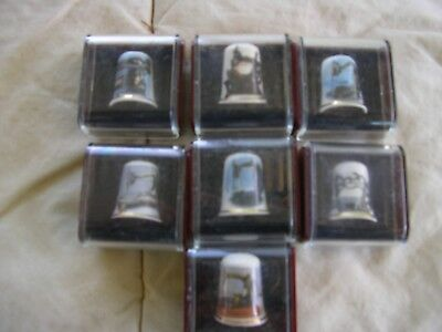 Vitage Collectable Bone China Thimbles International Makers Lot X 7