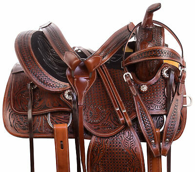 Horse Racing Saddle 16 17 18 Western Classic Antique Trail Riding Tack Set