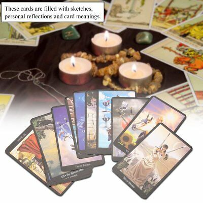 English Edition Tarot Cards Deck Vintage Set High Quality Colorful Card Box Game