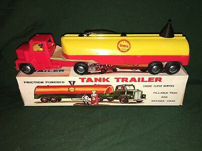 1960's Shell Tanker Truck & Funnel, rare,antique,vintage,collectible, Like Hess!