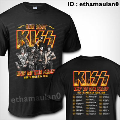 Kiss Band Rock End of The Road North American Tour 2019 T shirt S to 3XL MEN'S