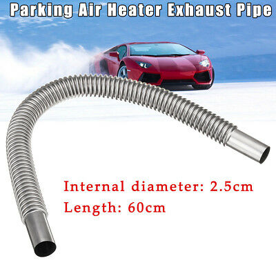 Car Stainless Steel Exhaust Pipe Parking Air Heater Tank Diesel Gas Vent Hose ##