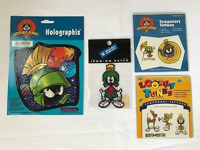 Lot of NEW Marvin the Martin Sticker, Patch and Temp Tattoos - Looney Tunes