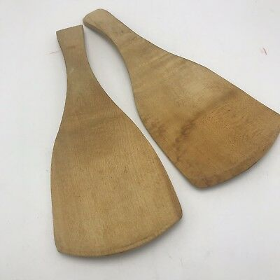2 Vintage 9 Inch Munising Wooden Maple Dough Butter Paddle