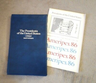 AMERIPEX 86 Presidents of the United States Mint Stamp Sheets souvenir folder