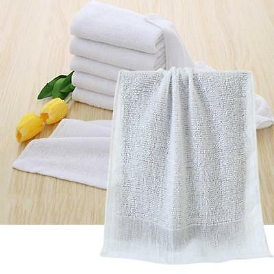 White Hotel Bathroom Soft Towels 100% Cotton Home Washcloths Travel Hand Towels