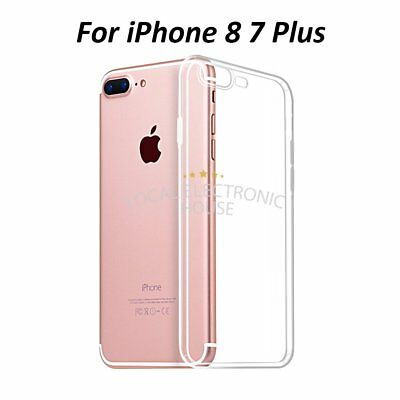 For I Phone 7 8 Plus 5.5'' Gel Ultra Crystal Thin Clear Case TPU Protector
