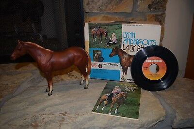 Breyer Horse Lynn Anderson LADY PHASE 1976 with Box, Book, Record 3075 #40