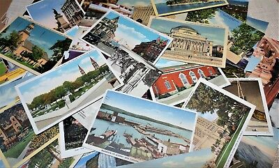 Lot of Vintage postcards, Variety from 1910 to '80s, Junk Journal, Mixed-media